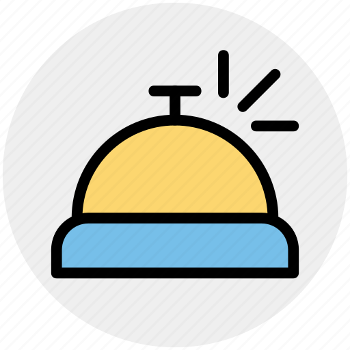 bell, front, hotel, reception, room service, travel icon