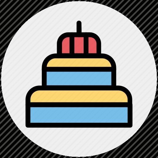 cake, celebrations, dessert, party, sweet food icon