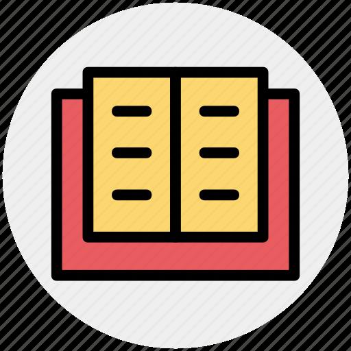 book, book mark, open, open book, school book icon
