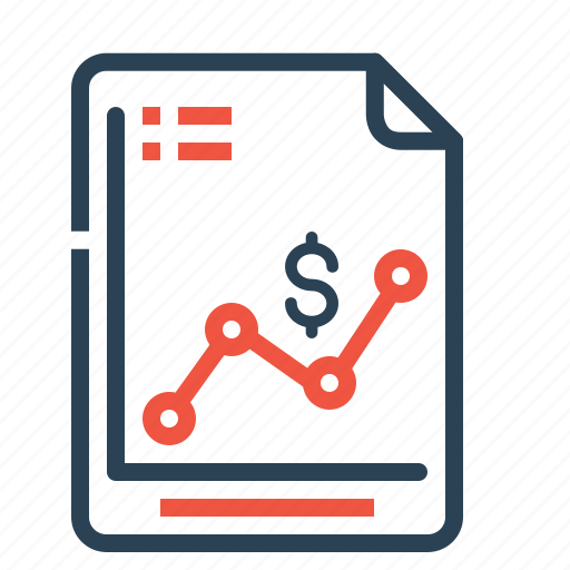 analysis, analytics, dollar, finance, progress, report, sales icon