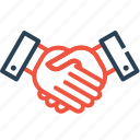 agreement, business, deal, finance, handshake, partnership, teamwork icon