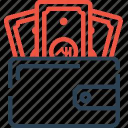 dollar, ecommerce, finance, money, pocket, wallet icon