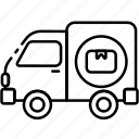 truck, delivery, shipping, logistics, cargo
