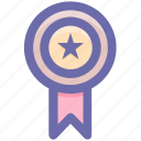 award, medal, medal star, prize, star icon