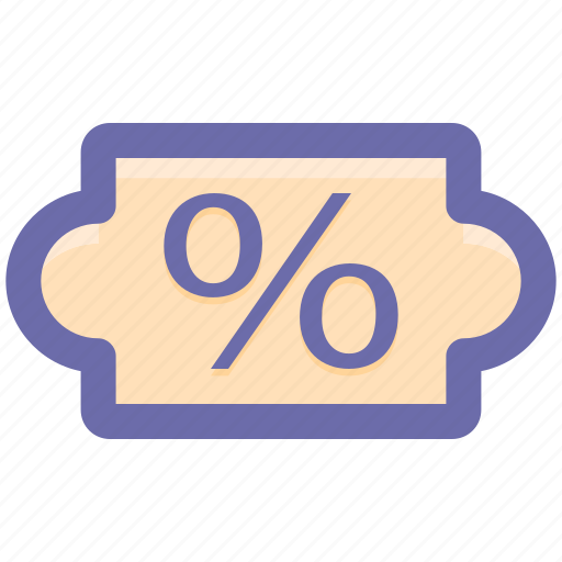 chip, coupon, percent, percentage, sale, sign icon