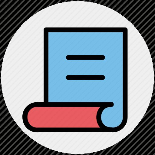 doc, paper, reading, receipt, script, sheet icon