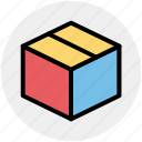 box, cardboard box, carton, delivery box, package, parcel icon