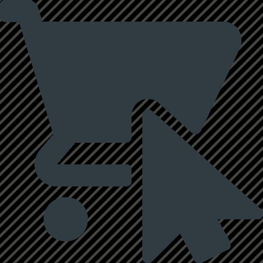 cart, click, collect, commerce, e, online, shop icon