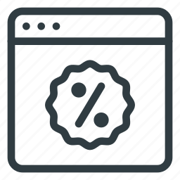 code, commerce, coupon, discount, e, online, sticker icon