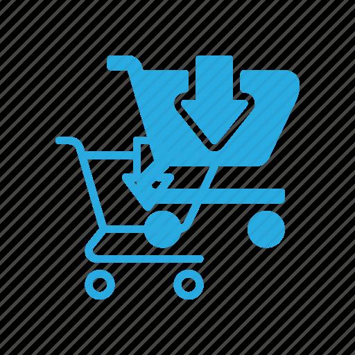 cart, ecommerce, product, put, shopping icon