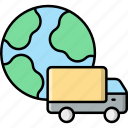 worldwide, shipping, delivery, truck, vehicle