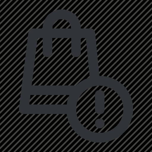 bag, buy, cart, ecommerce, notification, shopping icon