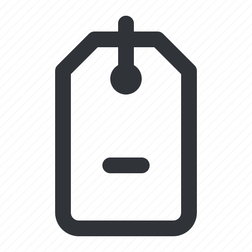 label, minus, remove, shopping, tag icon