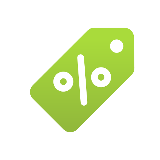 discount, ecommerce, label, percentage, shopping, tag icon
