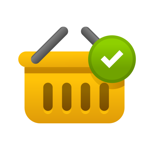 Bag, basket, cart, checkmark, ecommerce, shopping, store icon - Free download