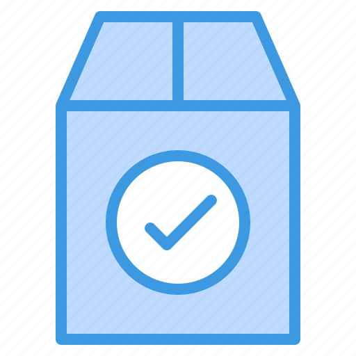 check, commerce, ecommerce, package, sale, shopping icon