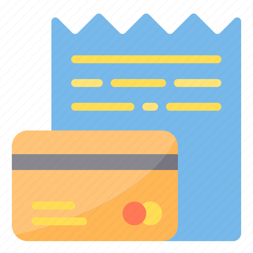 bills, card, commerce, credit, ecommerce, sale icon