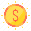 coins, commerce, ecommerce, money, sale icon