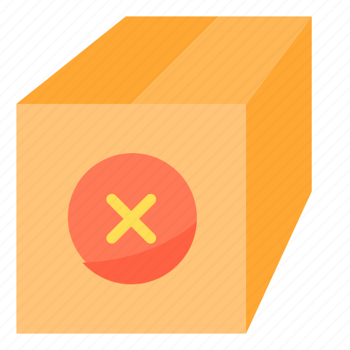 commerce, ecommerce, package, remove, sale icon