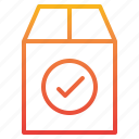 check, commerce, ecommerce, package, sale icon
