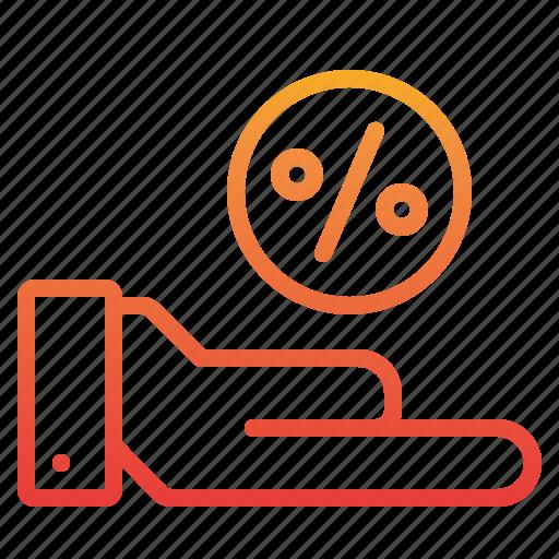 commerce, discount, ecommerce, percentage, sale icon