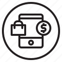 mobile, shopping, buy, cart, online, shop, smartphone