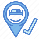 booking, holidays, hotel, internet, online, reservation icon