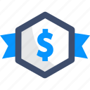 badge, currency, money, offer
