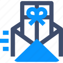 greetings, mail, send gift card icon
