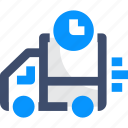 clock, delivery, instant delivery, time, truck