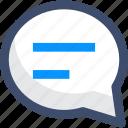 interface, message, sms, speech bubble