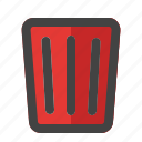 bin, delete, garbage, recycle, remove, trash