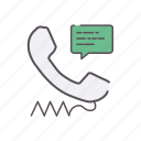 call, center, comment, contact, speech, talk icon