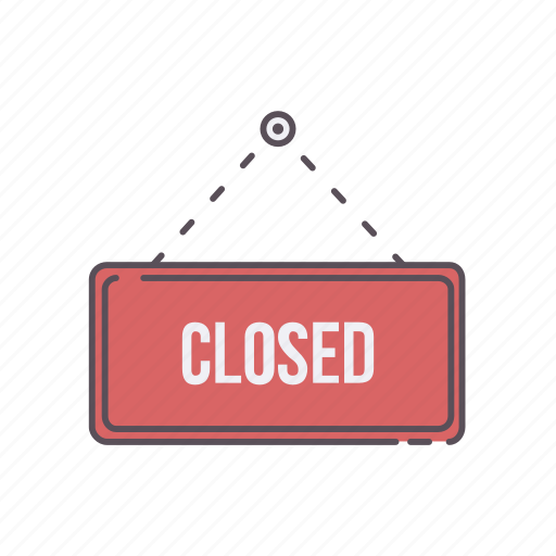 business, close, closed, money, online, sign, store icon