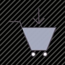 basket, commerce, money, shipping, shopping, store icon