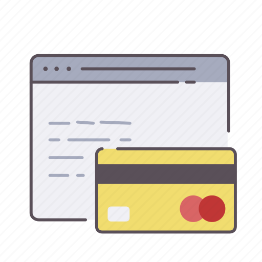 browser, cash, credit, payment, web, website icon