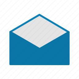 communication, connection, email, envelope, message, open icon