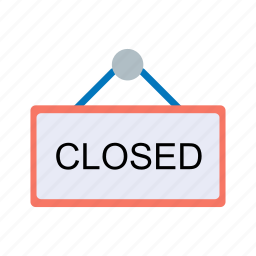 closed, direction, ecommerce, sign icon