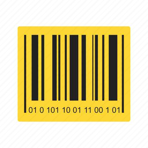 bar code, barcode, code, product label icon