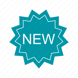 badge, new, sticker, tag icon