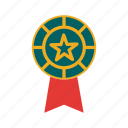award, badge, medal, ribbon icon