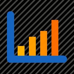 bar chart, graph, signals, statistic icon