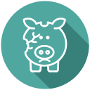 bankrupt, bankruptcy, broken piggy bank, cash, coins, financial problem, no money icon