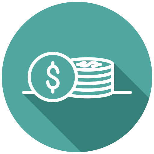 coins, money, payment, purchase, shopping, transaction icon