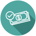buy, money, payment, successful purchase, successful transaction, transaction, withdraw money icon