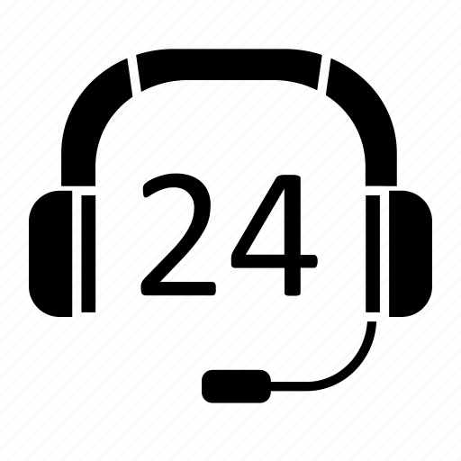 24h, business, center, ecommerce, headphone, support icon