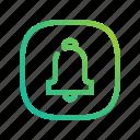 app, bell, campane, ecommerce, gradient, greenish, lineart, modern, notification, online, shop, website icon