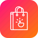 bag, cart, ecommerce, gesture, hand, online, shopping icon
