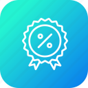 award, badge, finance, medal, profit, ratio, winner icon