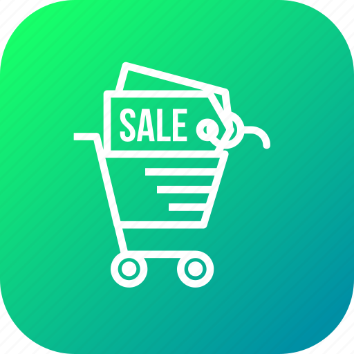 cart, discount, ecommerce, finance, offer, sale, shopping icon